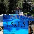 Super Capa para Piscina 1,5x1,5 + 8 LonaFlex 20cm + 8 LonaFix
