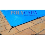 Capa para Piscina America 10x6 + 32 LonaFlex 20cm + 32 LonaFix Proteção