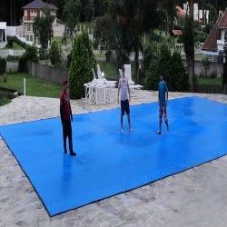 Capa para Piscina Super M: 10,0 x 4,0m PP/PE Cor Azul / Preto 72 molas 72 lonafix 5b