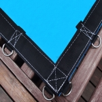 Lona Redonda 3,5m de Diâmetro Azul/Azul 380 micras + 25 elásticos lonaflex 30cm