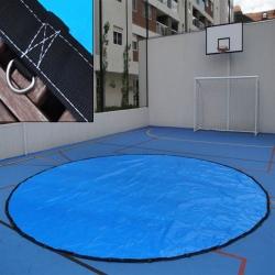 Lona Redonda 2,5m de Diâmetro Azul/Azul 380 micras + 20 Elásticos Lonaflex 30cm