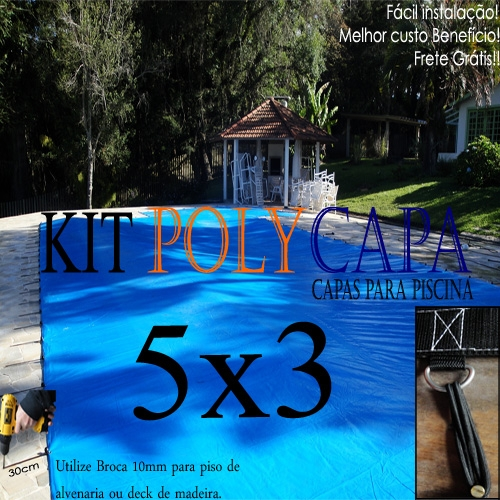 Super capa para piscina 5x3 30 lonaflex 15cm 30 for Piscina desmontable 5x3