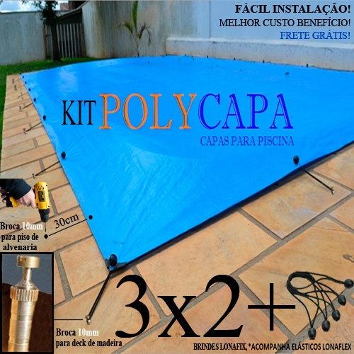 Capa para piscina am rica 3x2 12 lonaflex 20cm 12 - Piscinas desmontables 3x2 ...