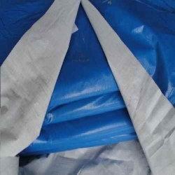 Lona PolyLona 12x8 Azul e Branco de Polyethileno