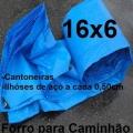 Lona Poly-Lona Forro Caminhão 16x6 Azul Polyethileno