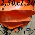 Lona Poly-Lona Plastica 2,50x1,20 Laranja ilhoses a cada 30cm
