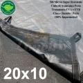 POLYLONA SUPER M: 20,0x10,0m PP/PE AZUL/PRETO 500 MICRAS
